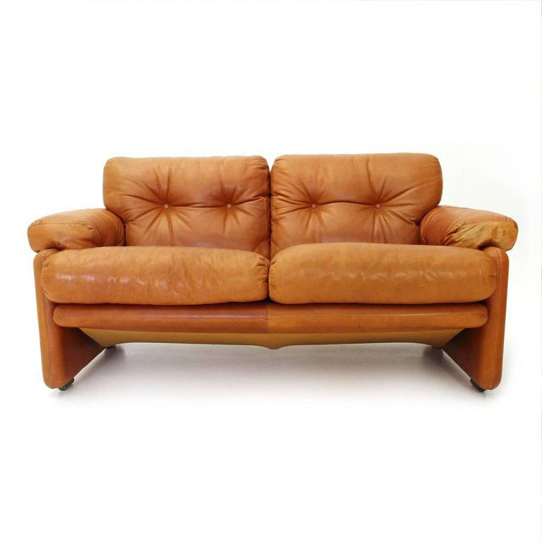 Brown Leather Coronado Two Seat Sofa By Tobia Scarpa For B B 1960s For Sale 5 Faux Leather Sofa Brown Leather Sofa Leather Sofa Set