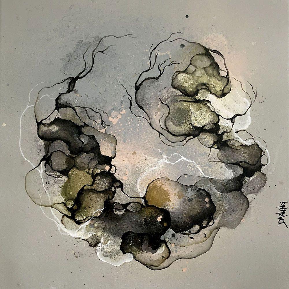 Lille Maleri Chilly 40x40 Cm Moderne Abstrakt Kunst Med Et Biologisk Tema Min Kunst Handler Om Mennesket I Natur Abstrakte Malerier Abstrakt Kunst Abstrakt