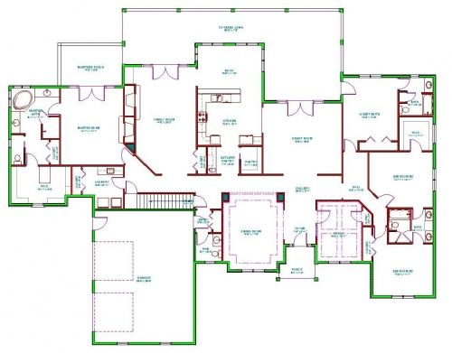 17 Best 1000 images about One Level Floor Plans on Pinterest Southern