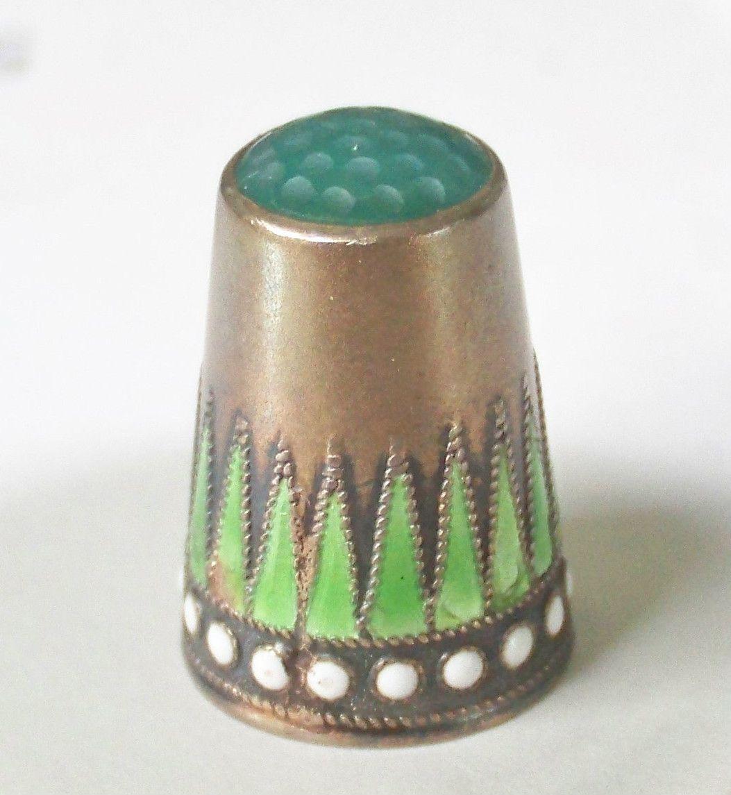 Norwegian Thimble Enamel Over Silver Stone Top | eBay Jul 20, 2013 / $169.50
