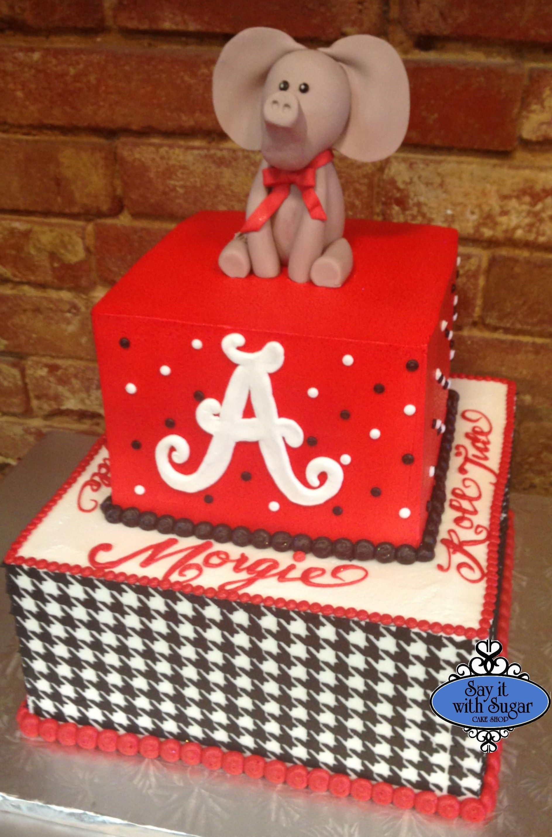 Alabama Roll Tide graduation cake cakes by say it with sugar