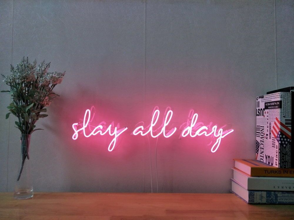 New Slay All Day Neon Sign For Bedroom Wall Art Home Decor Artwork With Dimmer