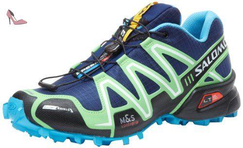 Speedcross 4, Chaussures de Trail Homme, Bleu (Bright Blue/Black/White), 46 2/3 EUSalomon