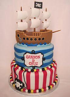 Astonishing Kathleen Decosmo Pirate Cake Cupcake Cakes Cake Birthday Cards Printable Inklcafe Filternl