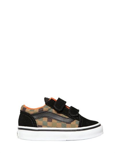 COTTON CANVAS AND SUEDE SNEAKERS