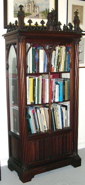 Gothic Revival Bookcase Muebles Antiguos Muebles Living