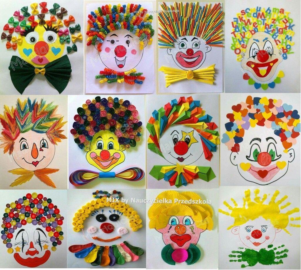 Clown Basteln Clown Basteln Clowns Malen Und Fasching Kunst