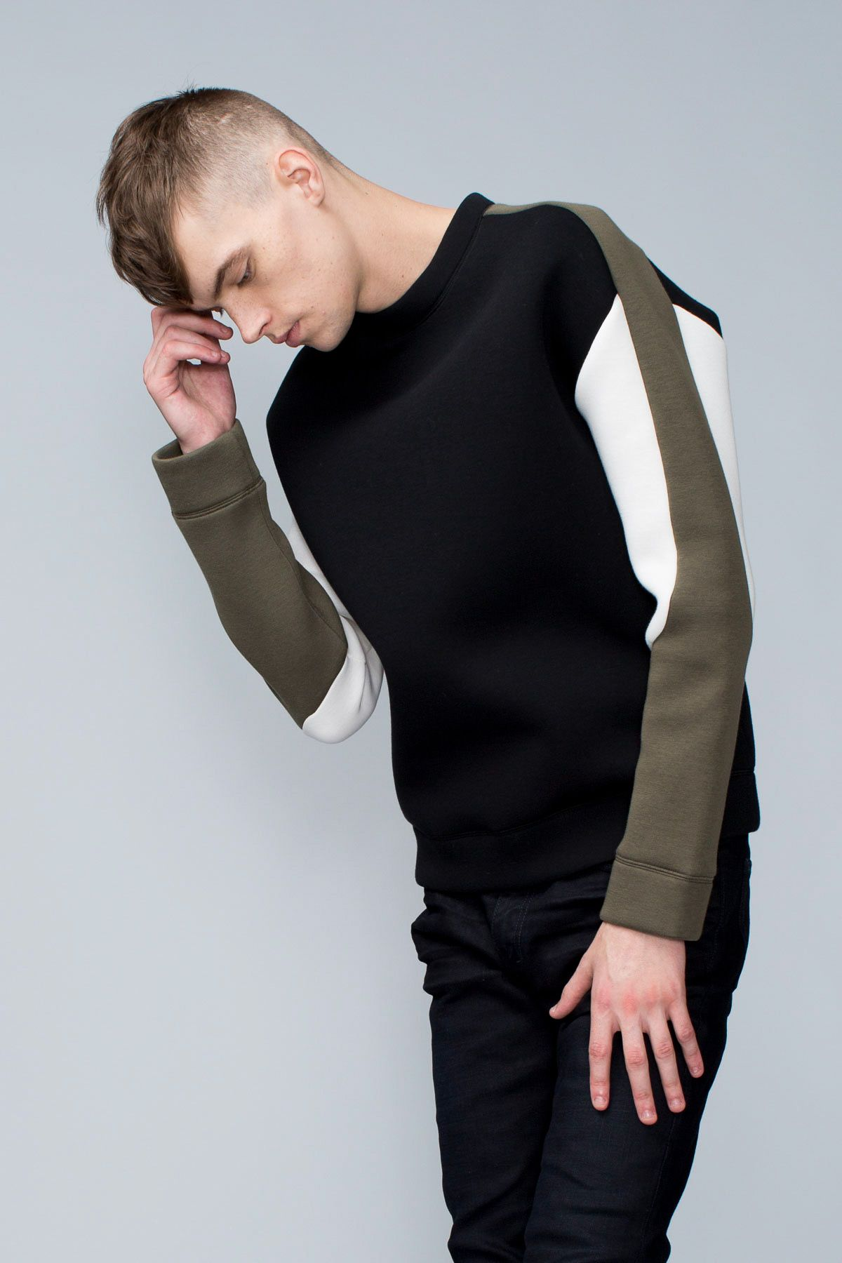 Color Blocked Sweatshirt Msgm Knitwear Men Mens Sweatshirts Mens Fashion [ 1800 x 1200 Pixel ]