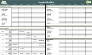 Camping List Free Download Just Used It And It Has Everything
