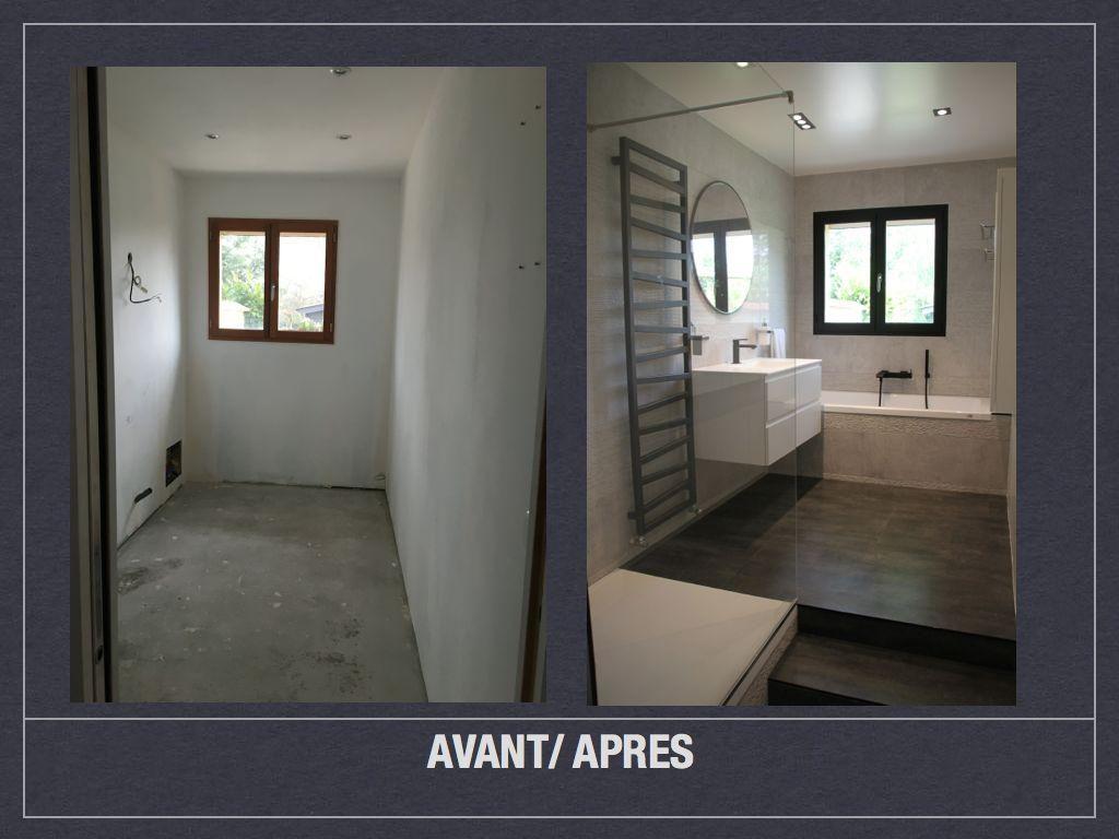 Avant apres salle de bains design 18 #homestagingavantapres Avant