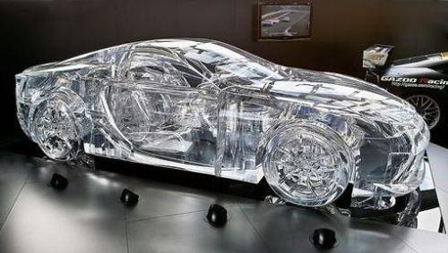 """Lexus Transparent Car"" I'm pretty sure those wheels don't grip too well"