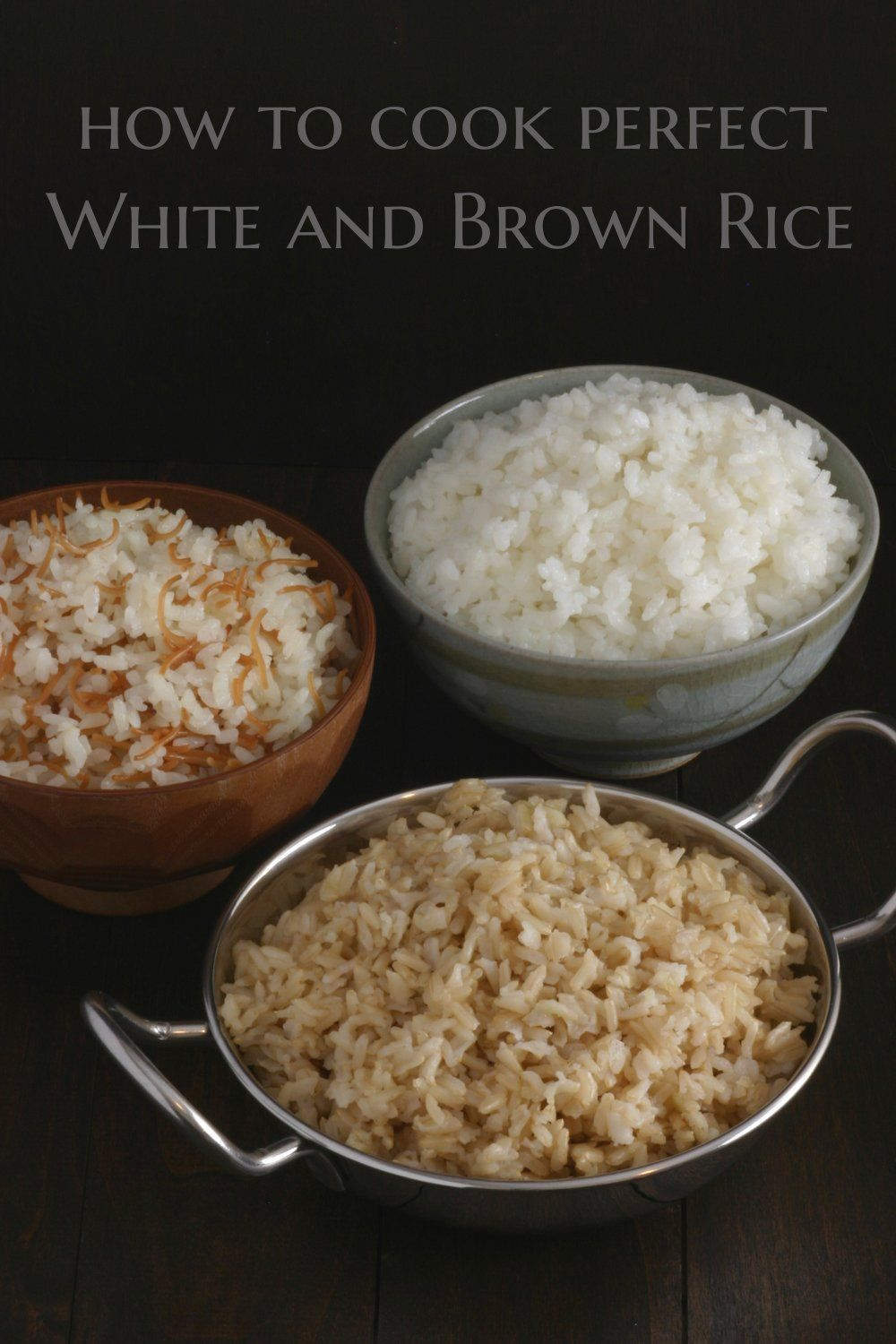 Basic white rice recipe brown rice rice and brown a how to recipe for cooking the perfect pot of basic white and brown rice ccuart Images