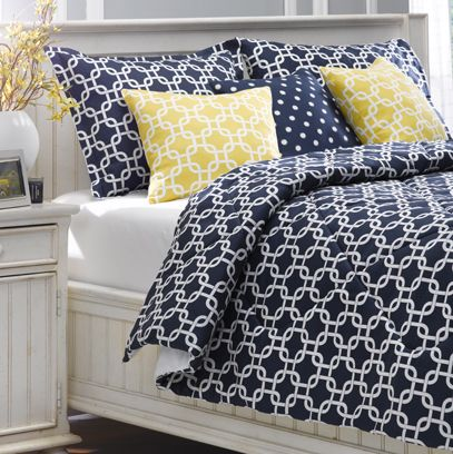 Navy Metro Bedding Set Full Double Only With Images Bed