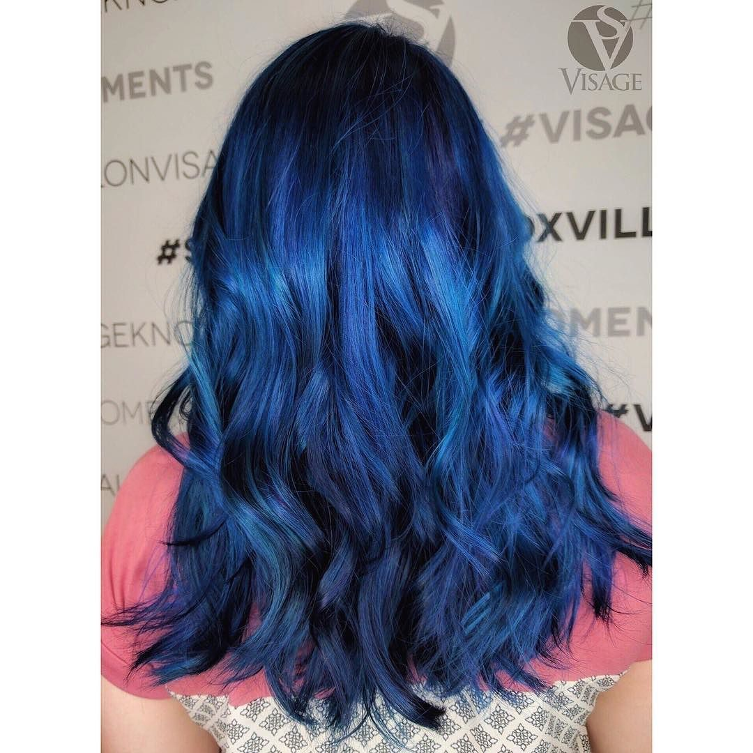 Blue Blazes Color By Anna Annahavehair Styled Raven Ravens Creations Visagemoments Bluehairdontcare