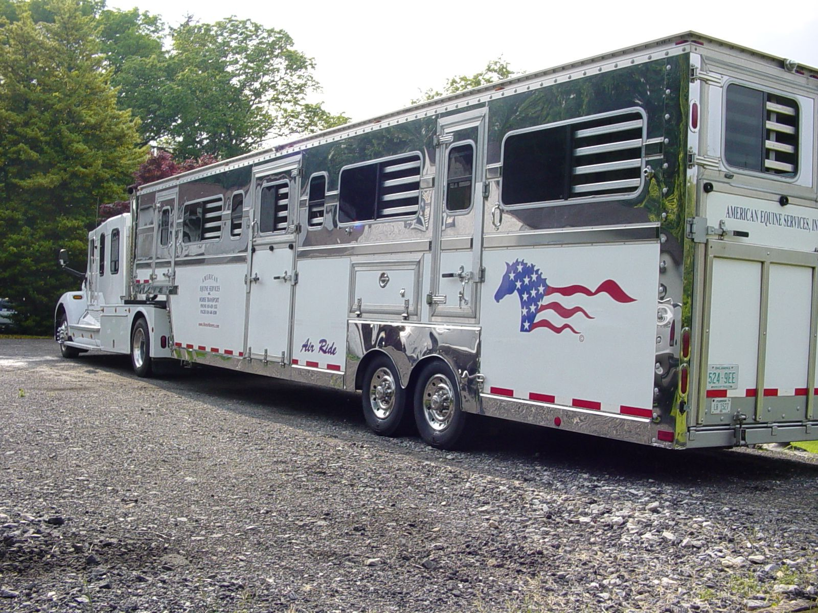 My Kenworth and 10 horse Pegasus semi trailer. Horse