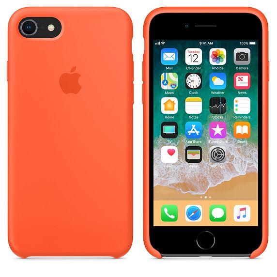 35 00 Iphone 8 7 Silicone Case Spicy Orange On Iphone 8 Space Gray Fundas De Silicona Para Iphone Fundas Para Iphone 6 Fundas Para Iphone