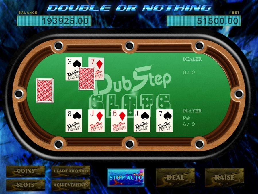 """Poker Game 5 Card """"Double or Nothing"""" Super fun games"""