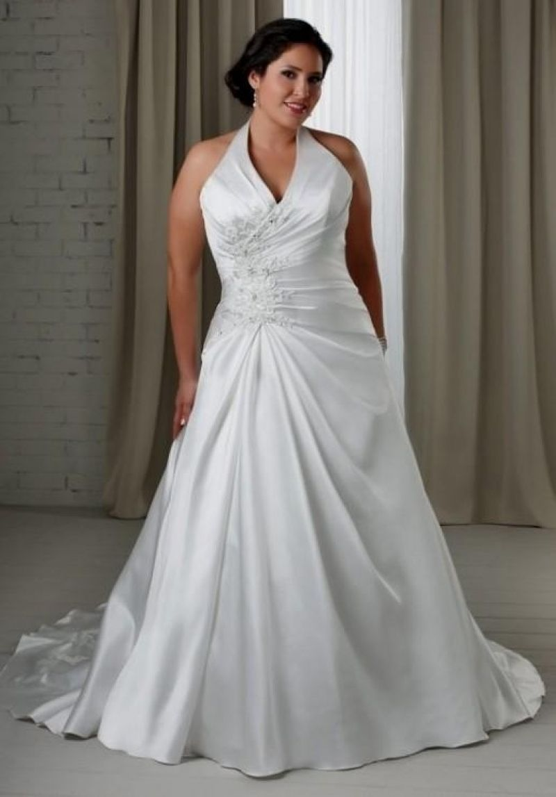 a1d08f949f6cb Adorable Plus Size Silver Wedding Dresses