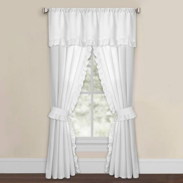 Product Image For Smoothweave Eyelet Rod Pocket Window Curtain