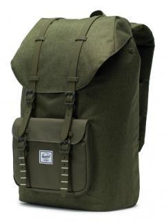 9f235f8470b2d Rucksack mit Laptopfach Herschel Little America olivgrün - Bags   more