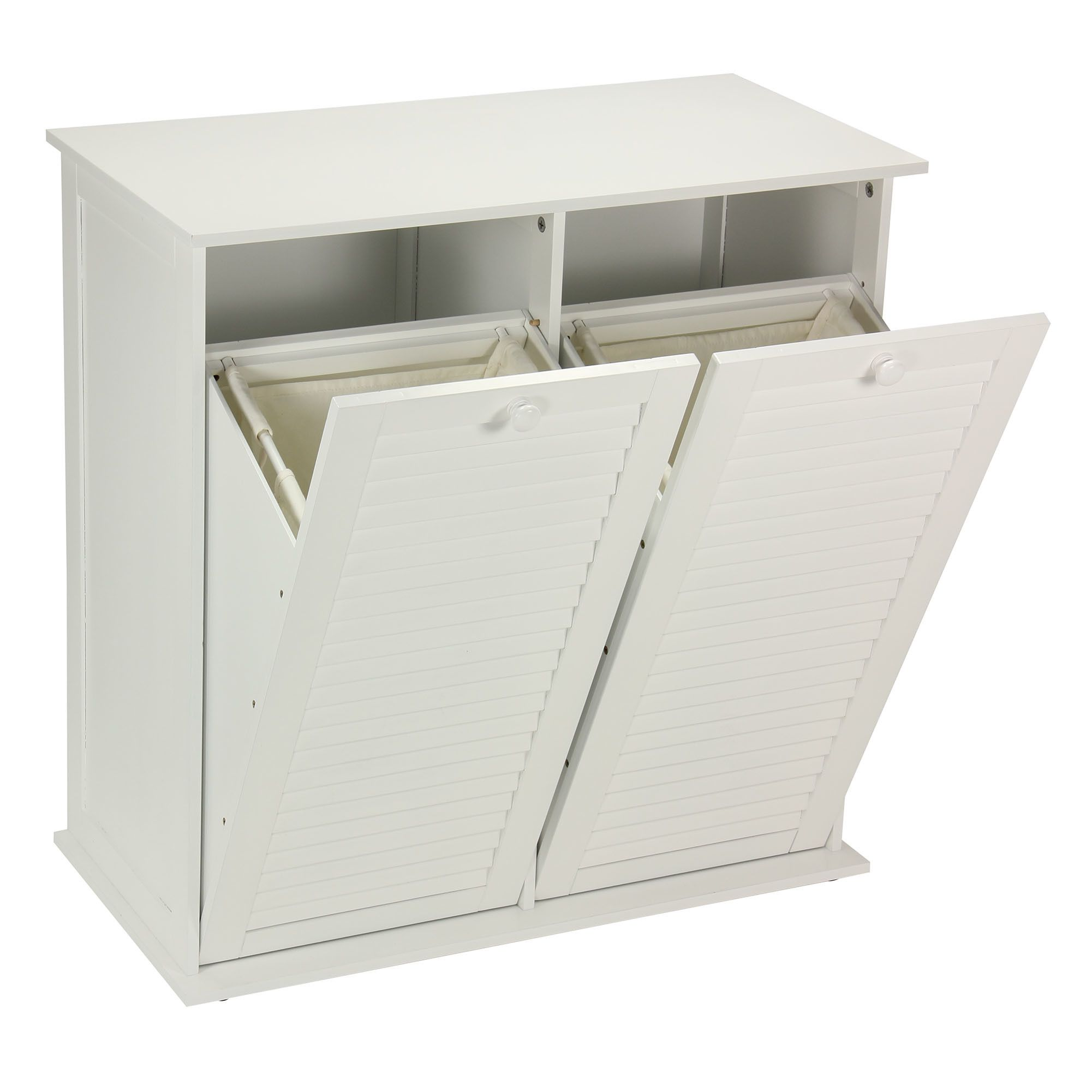 Household Essentials Tilt Out Laundry Sorter Cabinet With Shutter
