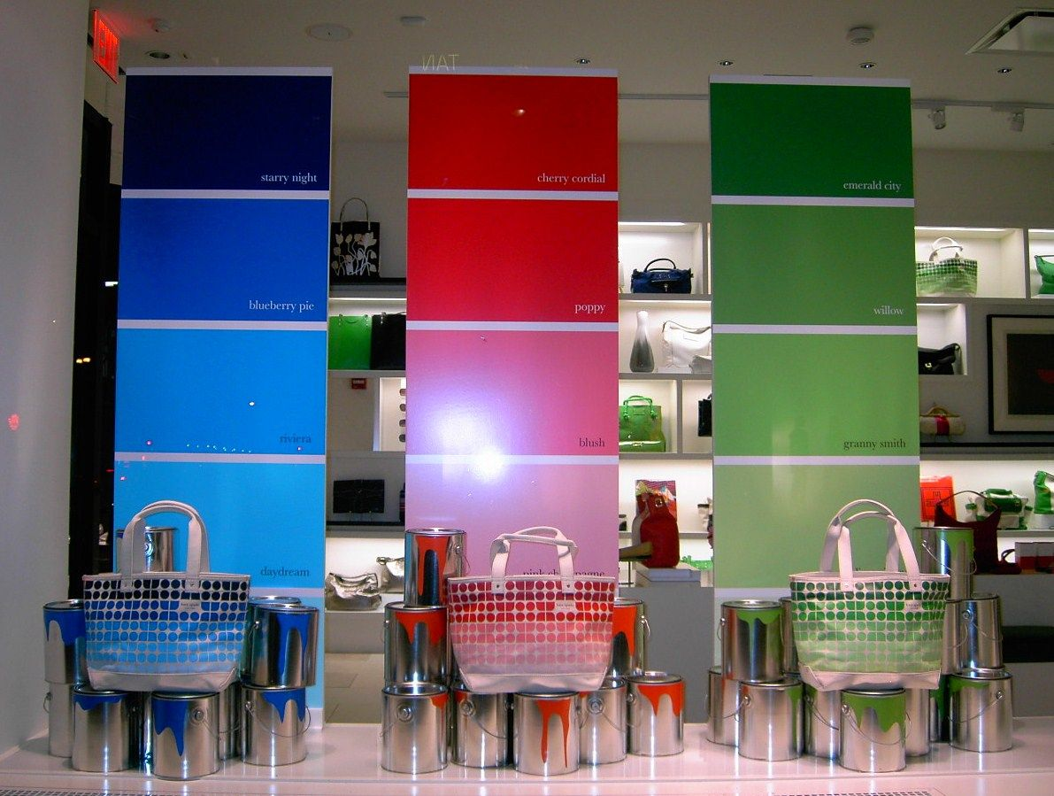 A Marmie Life Paint Color Window Display Inspiration Storing Paint Window Display Visual Merchandising