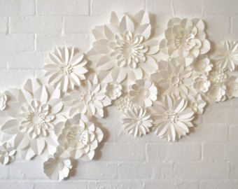 Handmade Paper Flower garland  2019  Stunning handmade paper flower garland. This paper flower garland makes an absolutely lovely and versatile wedding decoration. Made in east london each flower is curled and folded by hand and then attached to a over 1 metre of paper foliage the pictures show two attached together each one is unique and so yours may differ slightly from the pictures. The flowers are available in a mix of up to 6 colours just choose from the colour palette and leave your choice #paperflowergarlands