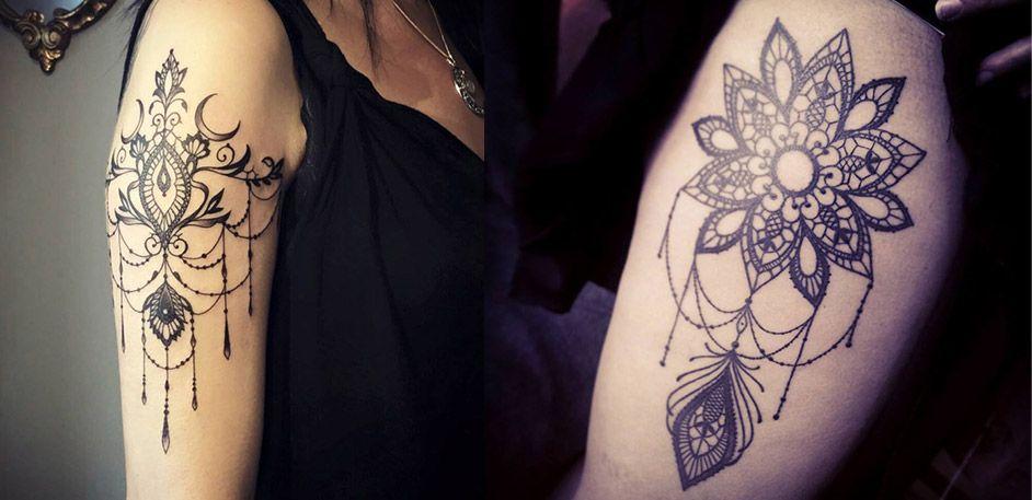 les tatouages dentelles de miss voodoo tatouages pinterest le tatouage dentelle et tatouages. Black Bedroom Furniture Sets. Home Design Ideas