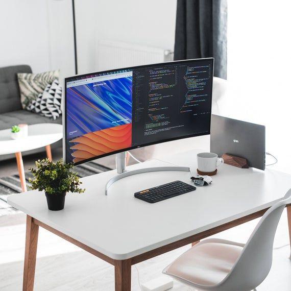 MacBook Laptop stand holder rest Tidy desk docking station | Etsy