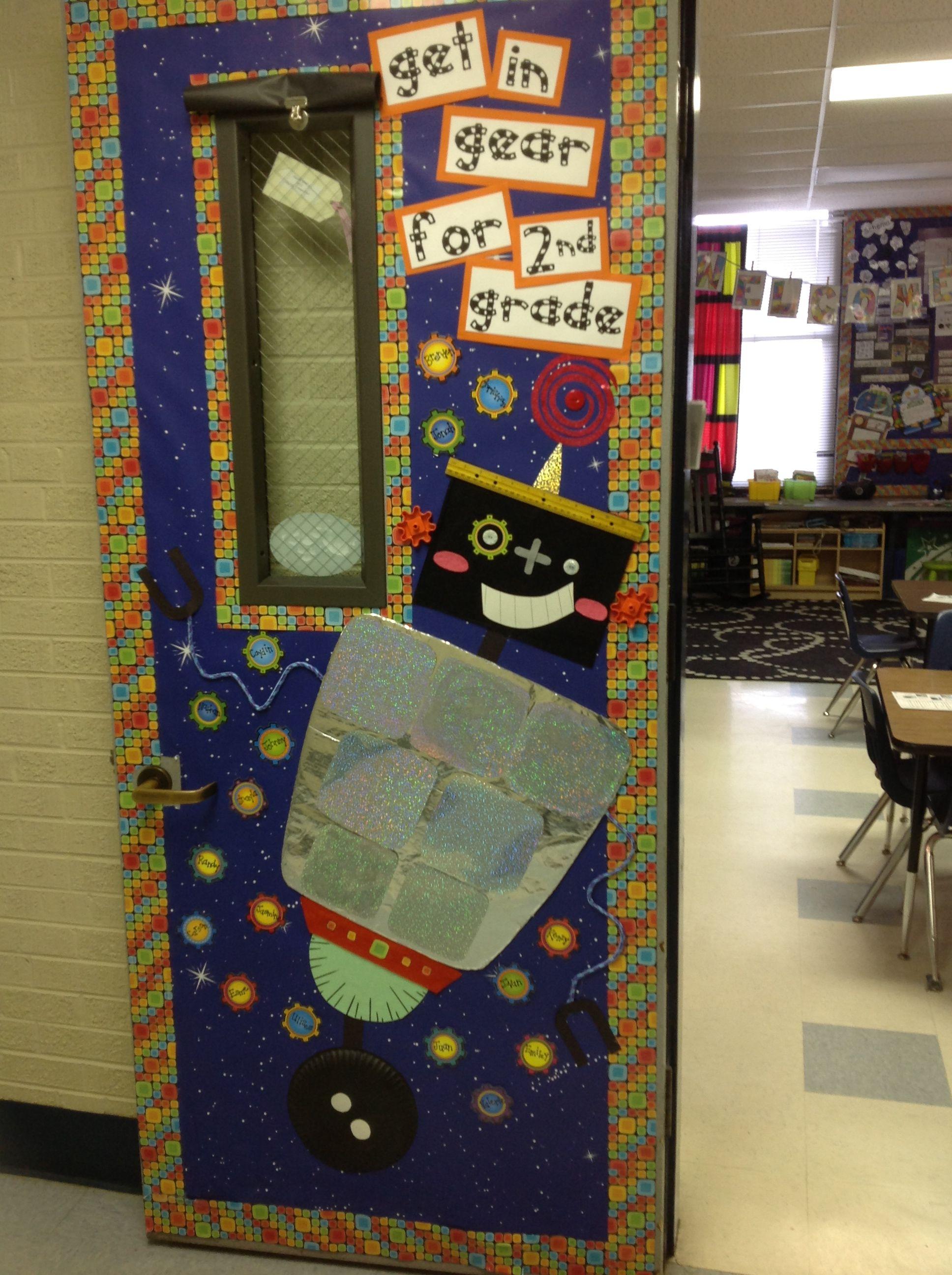 Robot Classroom Decor ~ Classroom door robot theme nd grade
