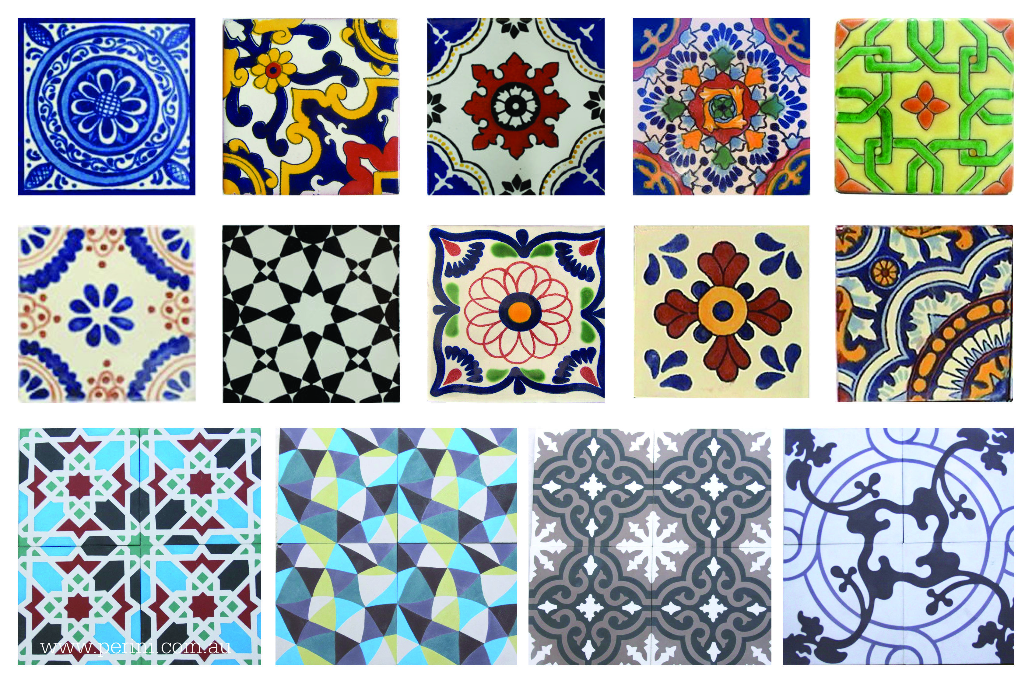 Decorative Tiles Melbourne Perini Tiles New Moroccan Tiles  Decorative Tiles  Pinterest