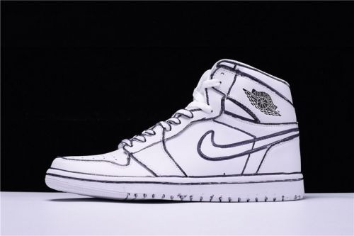watch d581b f75e5 Where To Buy Joshua Vides x Air Jordan 1 White Black - Mysecretshoes