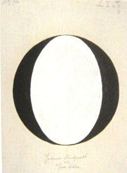 Hilma af Klint - Nr. 2b. Judarnas ståndpunkt vid Jesu födelse, 1920. HAK 470. Kat. 143. 36,5 x 27 cm