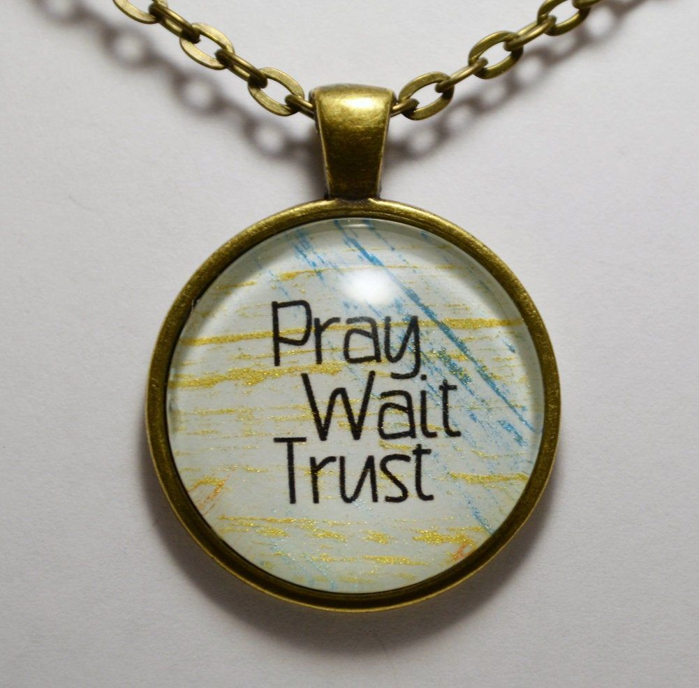 It/'ll Be Alright Pendant Necklace Trust God Pendant Necklace C L Murphy Creative CLMurphy Creative
