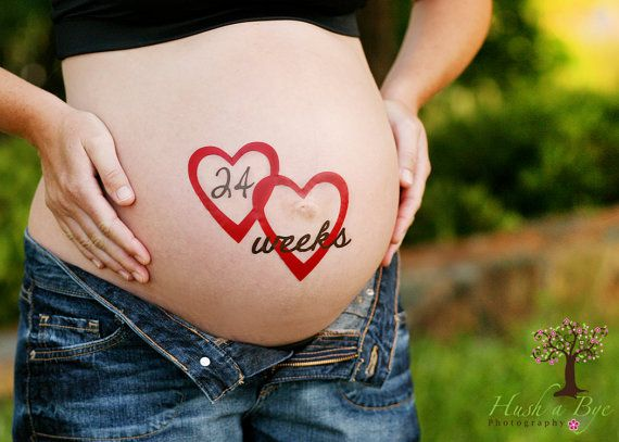 Fun and Unique Weeks Baby Bump Pregnancy by BUMPherStickers, $30.00