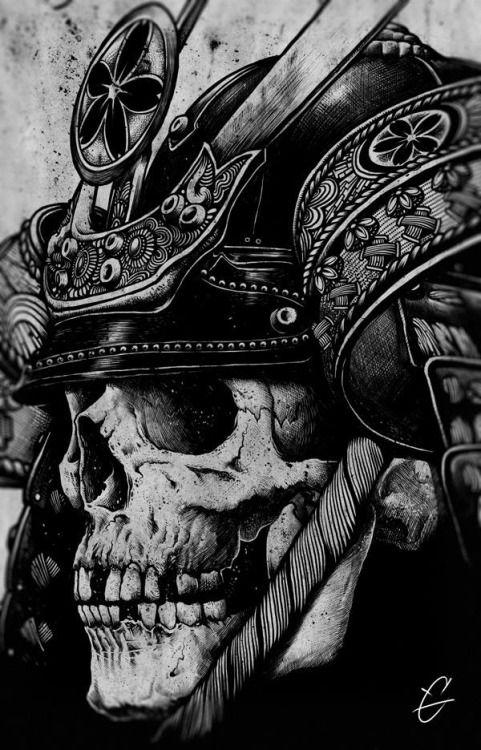 Samurai Skull Tattoo Idea Tattoo Tattoo Ideen Tattoo Vorlagen