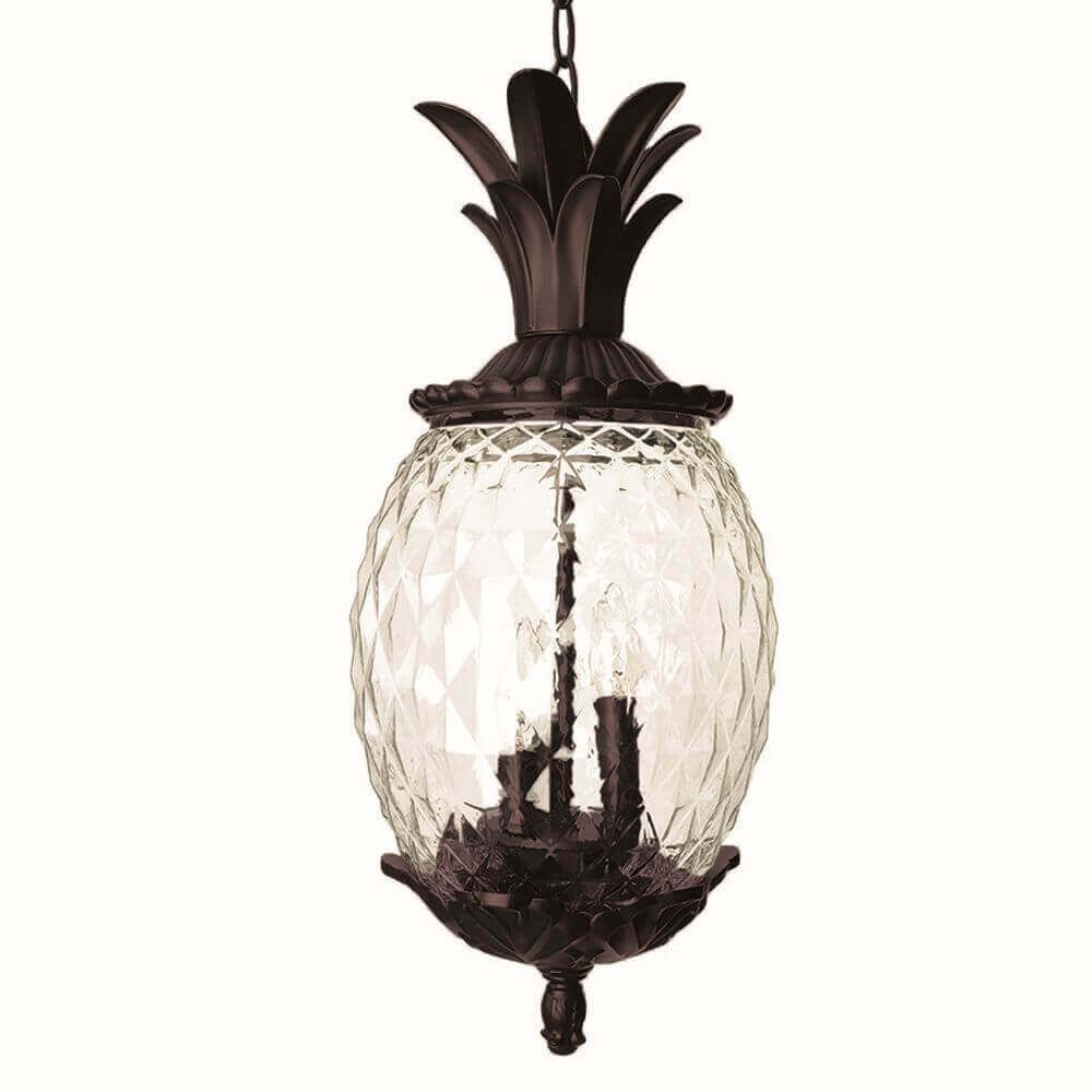 21 Inch Tall Dark Bronze Pineapple Outdoor Hanging Lantern Light Is Made By The Brand Goodman In 2020 Outdoor Hanging Lanterns Hanging Lantern Lights Hanging Lanterns