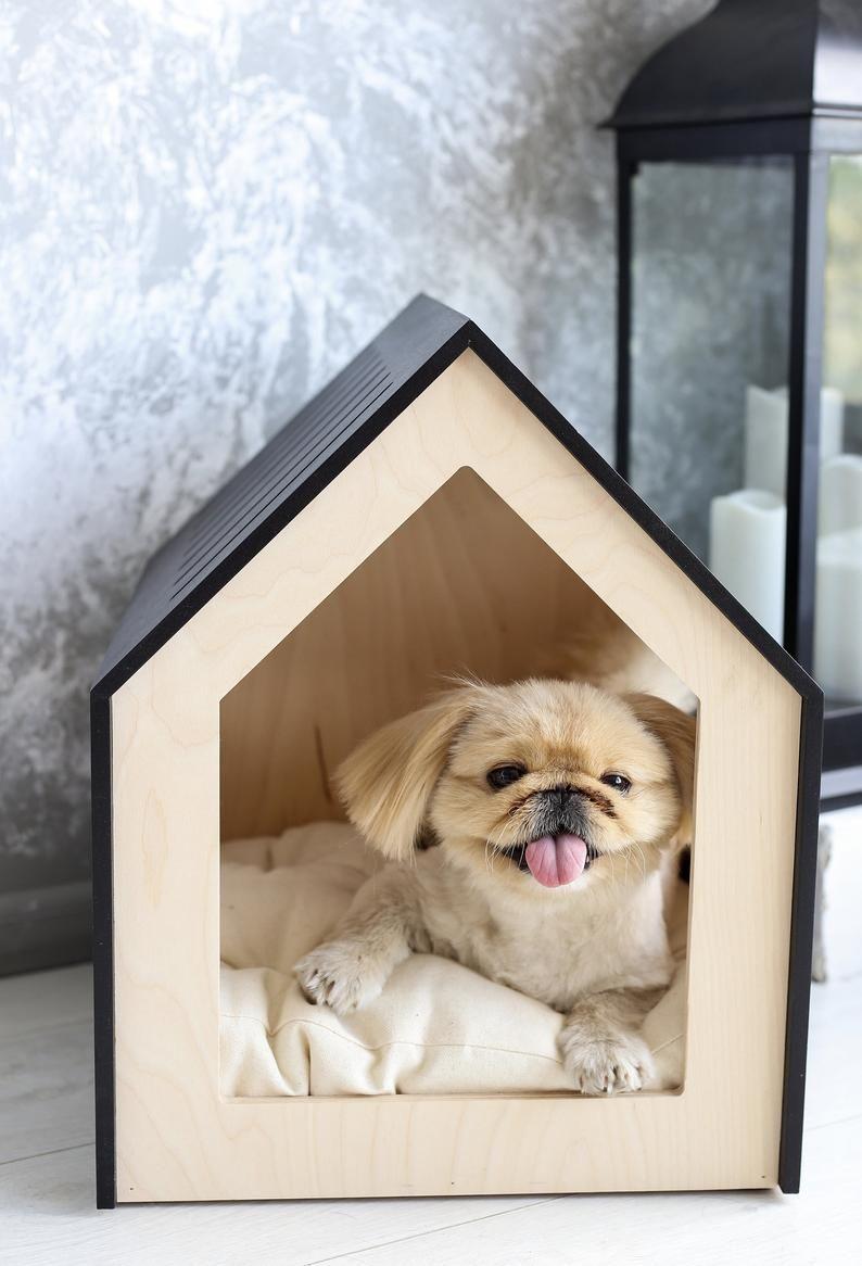 Pin By Barbara On Madera In 2021 Modern Dog Modern Pet Furniture Pet Furniture Dog