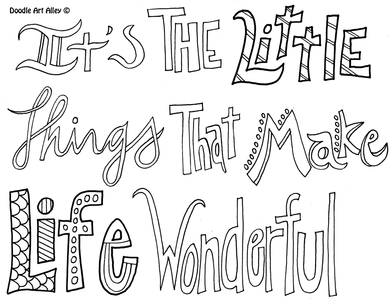 It\'s the little things that make life wonderful | Coloring Pages for ...