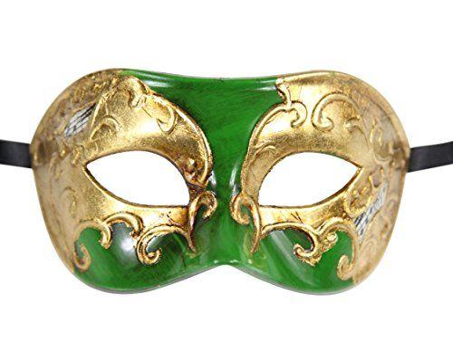Luxury Mask Men's Vintage Design Masquerade Prom Mardi Gras Venetain, Green/Gold Musical, One Size Luxury Mask http://www.amazon.com/dp/B010HTHJNY/ref=cm_sw_r_pi_dp_SAvdxb178WPK0