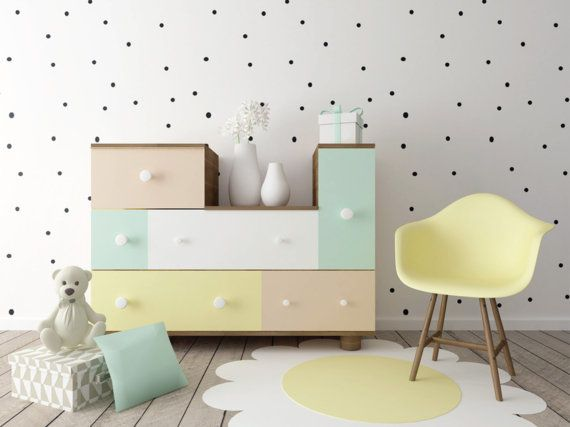 polka dot wall sticker pattern removable circles wall decal | on the