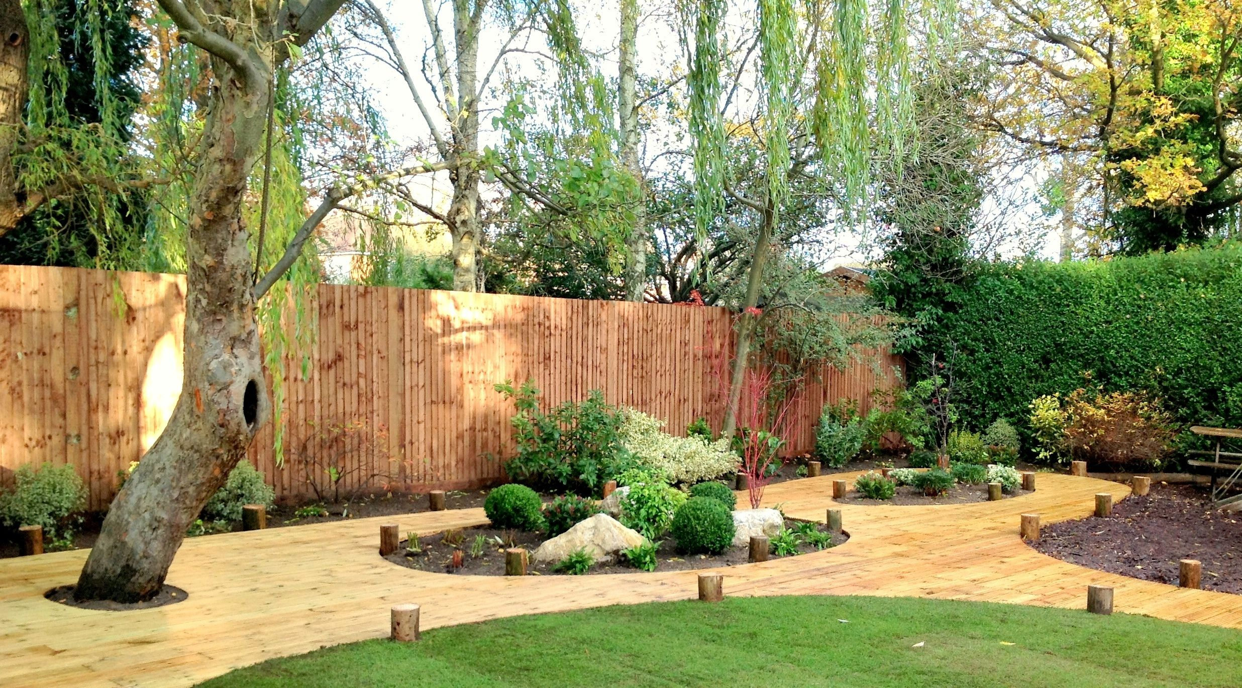 Traditional Garden Design Ideas Traditional Softwood Decking And Planting Tuin Vlonder Exeter Devon