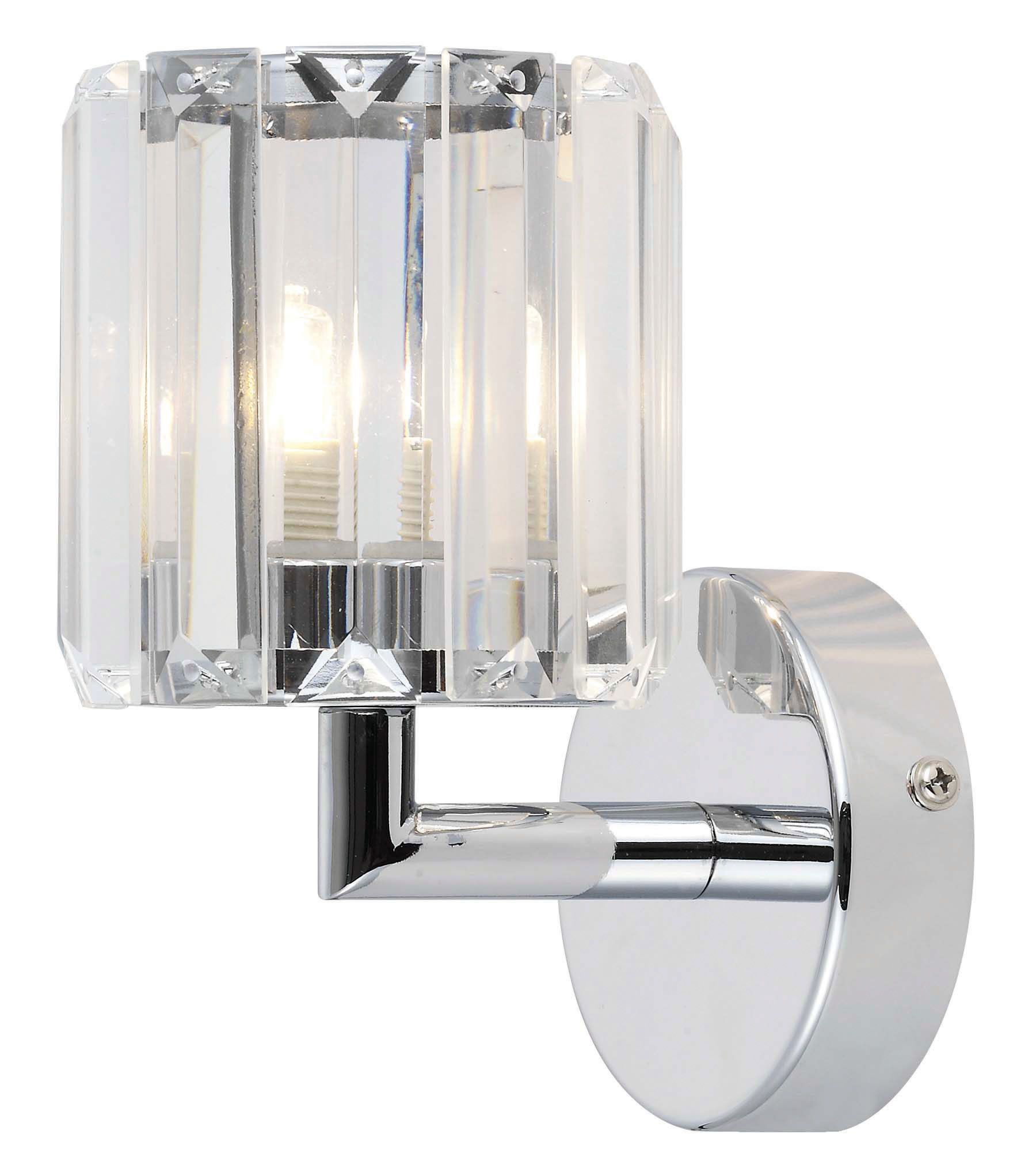 Colours Pereti Chrome Effect 1 Lamp Halogen Single Wall Light