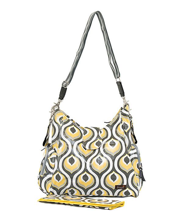 Look what I found on #zulily! Bayá Yellow Peacock Messenger Diaper Bag by Bayá #zulilyfinds
