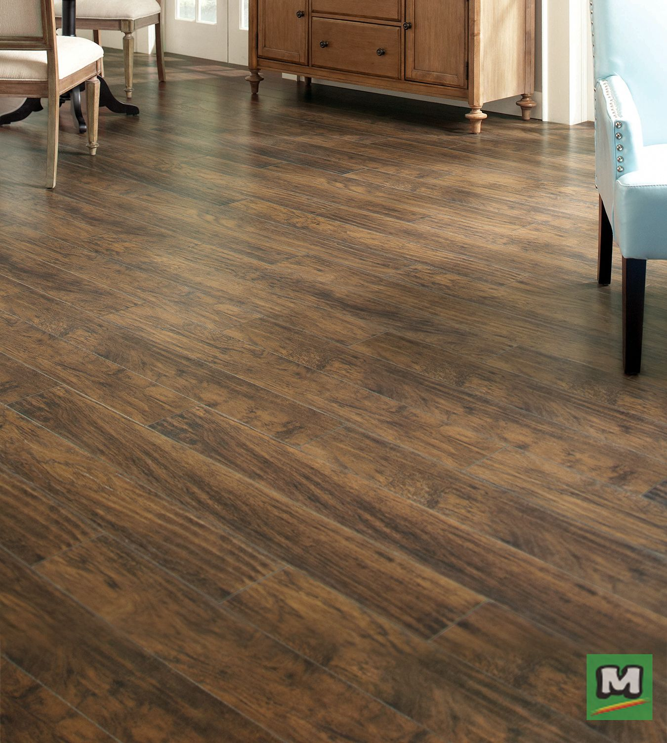 Monroe Park Hickory Laminate Flooring Features A Realistic Texture