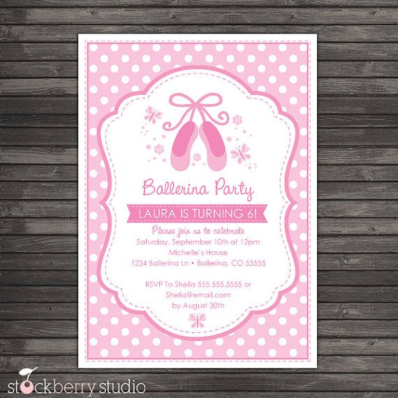 Sweet Ballerina Dance Across The Stage Holding An Invitation To