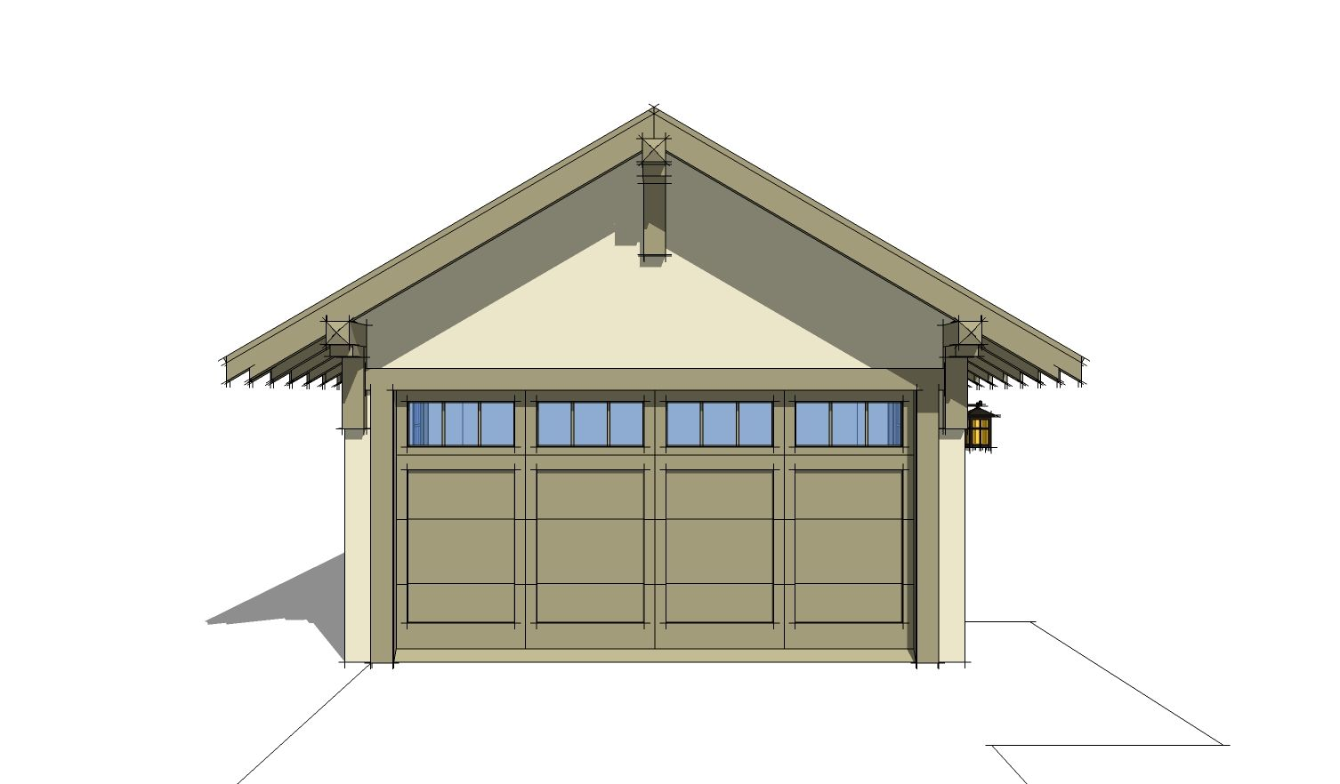2 Car Traditional Garage 380 Square Feet Tyree House Plans Unique House Plans House Plans Garage Plans Detached