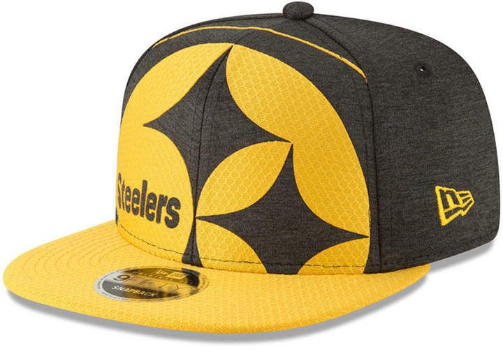 ca422f1ef64 New Era Pittsburgh Steelers Oversized Laser Cut 9FIFTY Snapback Cap ...