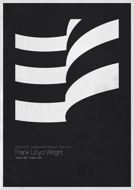 6 Architects' Iconic Posters by Andrea Gallo