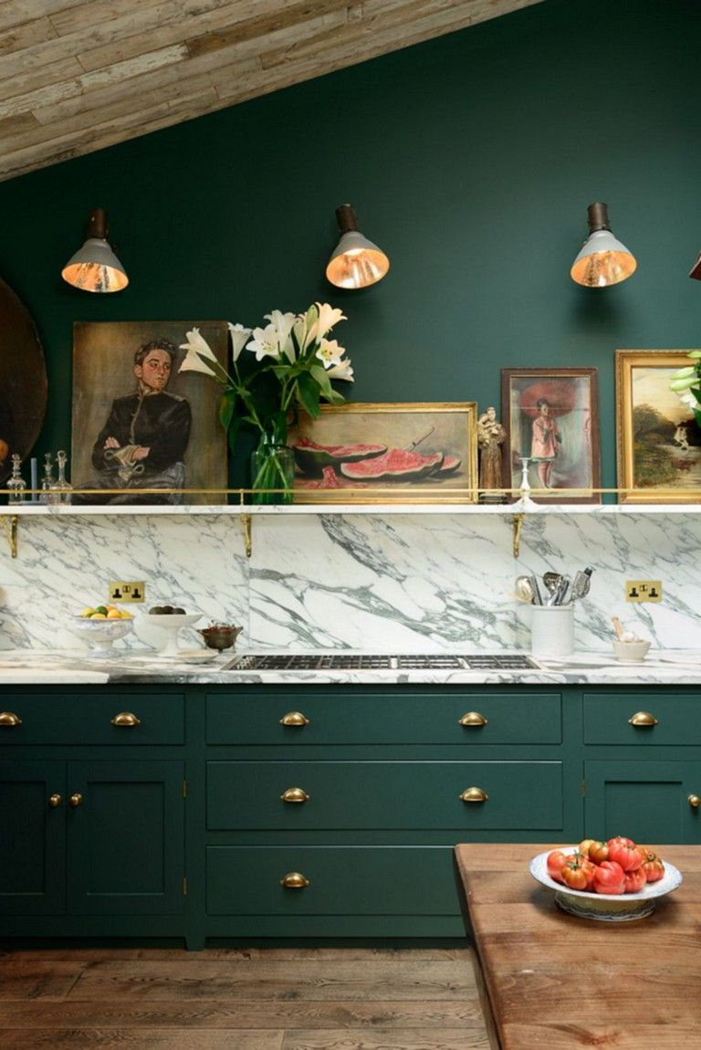 43 Wonderful Gold Kitchen Hardware Ideas To Make Your Kitchen More Unique Gold Kitchen Hardware Green Kitchen Designs Green Kitchen Cabinets
